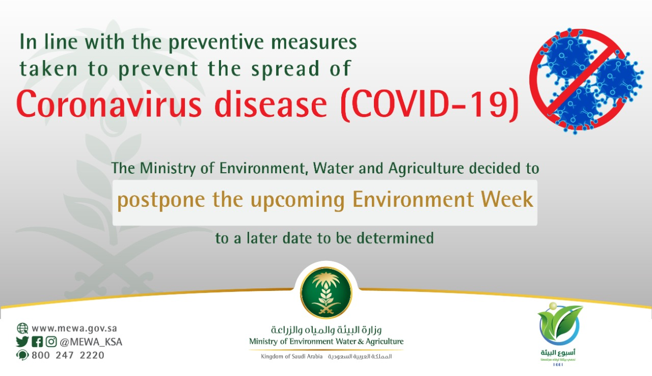 Environment Week postponed due to preventative measures towards Coronavirus